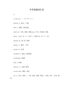 中考基础词汇表.doc