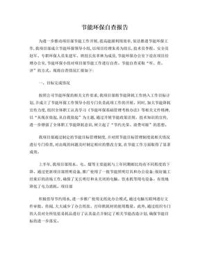 节能环保自查报告.doc