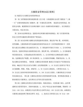 大额资金管理办法[资料].doc