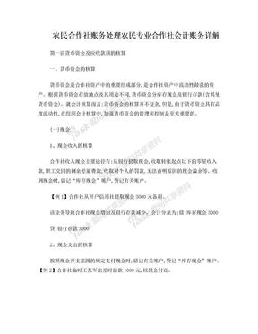 农民专业合作社 会计实务.doc