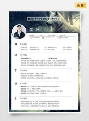行政-简约-简历模板02.docx