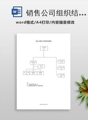 销售公司组织结构图