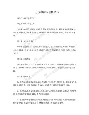 分公司承包协议书最终版.doc