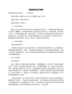 网络销售毕业实习报告.docx