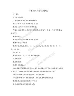 宫颈hpv高危检查报告.doc