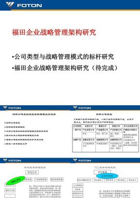 福田企业战略管理架构研究20040626.ppt