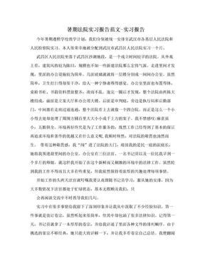暑期法院实习报告范文-实习报告.doc