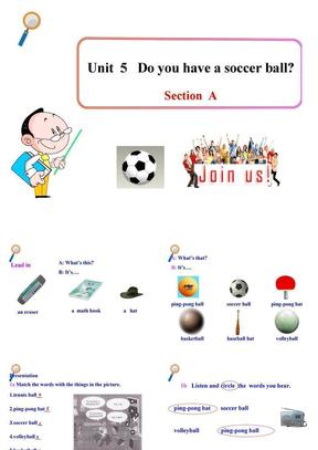 人教版七年级英语上册初一教学课件:Unit 5 Do you have a soccer ball Section A.ppt