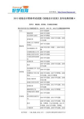 2013初级会计职称考试试题《初级会计实务》历年经典回顾 4.doc