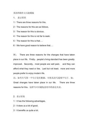 英语四级作文万能模版.doc