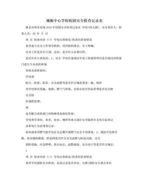 城厢中心学校校园安全检查记录表.doc