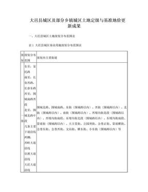 大邑县城区及部分乡镇城区土地定级与基准地价更新成果.doc
