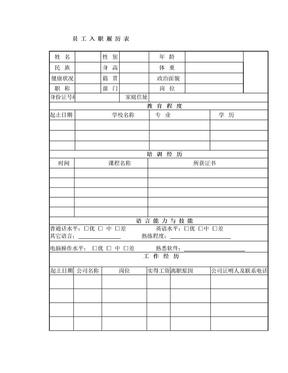 【最新】公司员工履历表.doc
