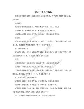 职业卫生操作规程.doc
