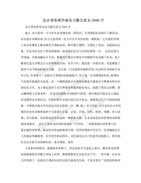 会计事务所毕业实习报告范文5000字.doc