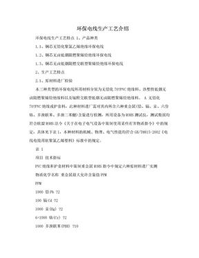 环保电线生产工艺介绍.doc