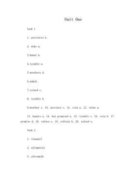 研究生英语综合教程-下 课后习题答案.doc