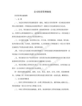 公司经营管理制度.doc