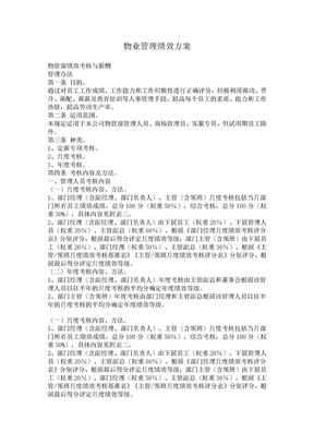 物业管理绩效方案.doc