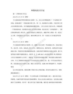 环保局实习日记.doc
