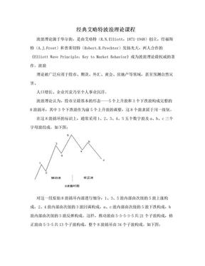 经典艾略特波浪理论课程.doc