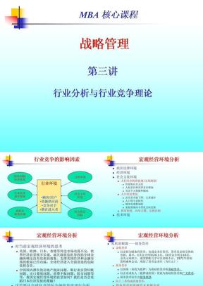 战略管理第3讲行业分析与行业竞争理论.ppt