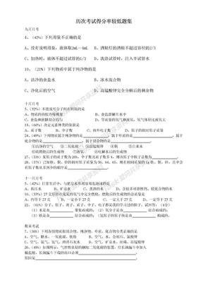 初三化学易错题集.doc