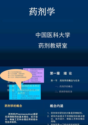 中国药科大学药剂学课件之yjx01.ppt