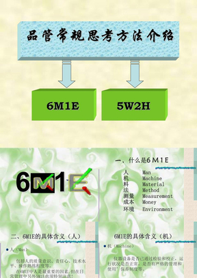 质量人员常规思考方法++5W2H和6M1E.PPT
