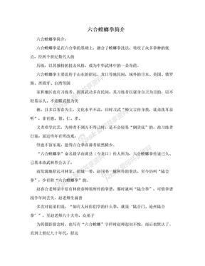 六合螳螂拳简介.doc
