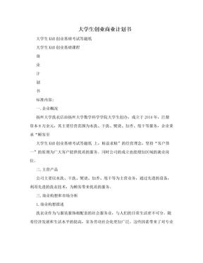 大学生创业商业计划书.doc