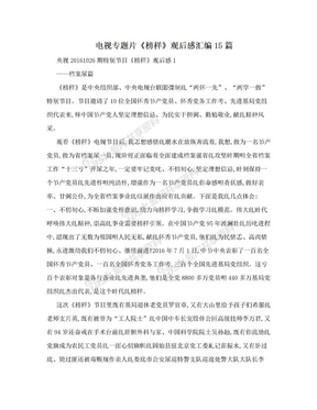电视专题片《榜样》观后感汇编15篇.doc