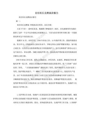 责任组长竞聘演讲报告.doc