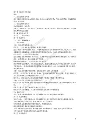宪法学概要周叶中.doc