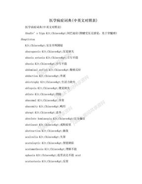 医学病症词典(中英文对照表).doc
