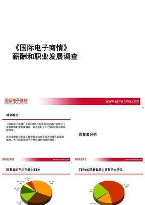 2004年中国电子行业薪酬和职业发展调查.PPT