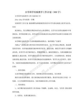 小学科学实验教学工作计划(900字).doc