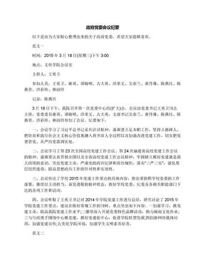 政府党委会议纪要.docx