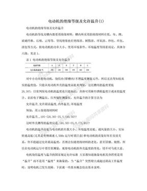电动机的绝缘等级及允许温升(1).doc