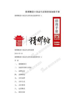 猜那糖进口食品生活馆招商加盟手册.doc