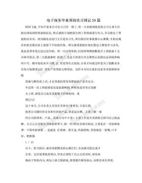 电子商务毕业顶岗实习周记20篇.doc