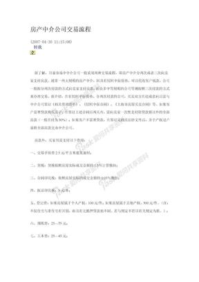 房产中介公司交易流程.doc