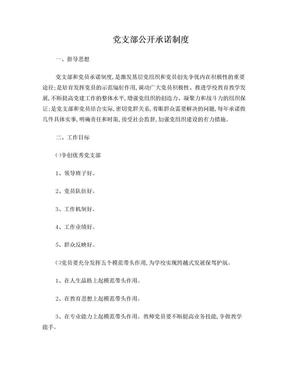 党支部公开承诺制度.doc