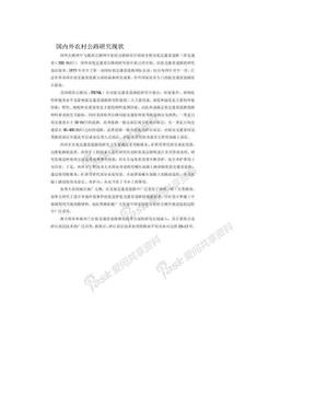 国内外农村公路研究现状.doc