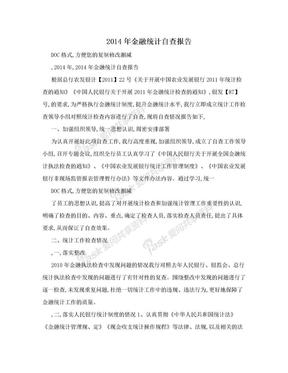 2014年金融统计自查报告.doc