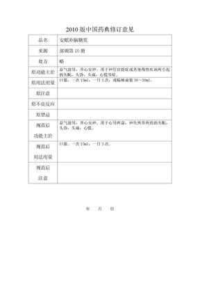 《中国药典》2010年版(一部)成方制剂拟新增品种中医标准修订.doc