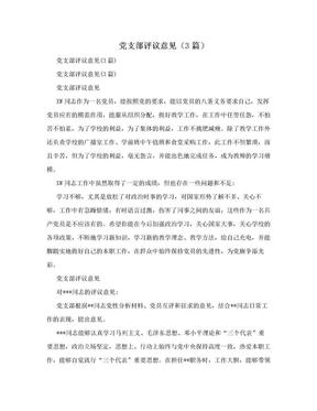 党支部评议意见(3篇).doc