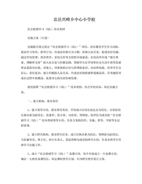 兴峰小学社会情感学习计划.doc