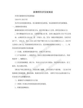 新塘村经济发展规划.doc