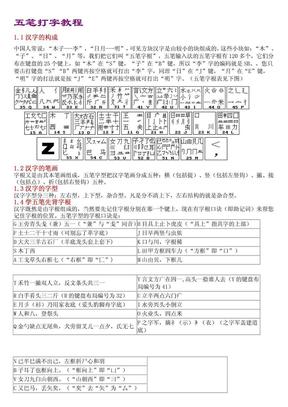 五笔打字教程(五笔字根表及口诀).pdf